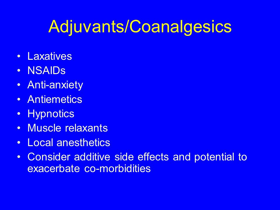 Adjuvants/Coanalgesics