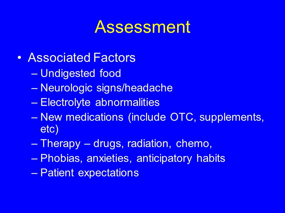 Assessment Associated Factors Undigested food