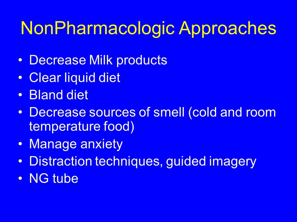 NonPharmacologic Approaches