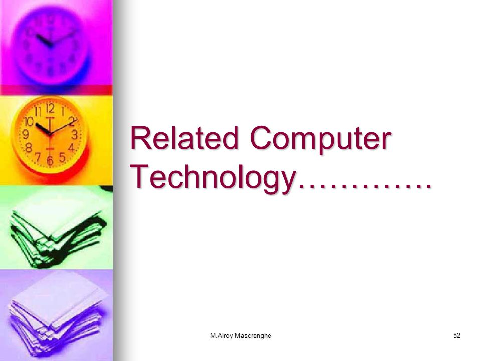 Related Computer Technology………….