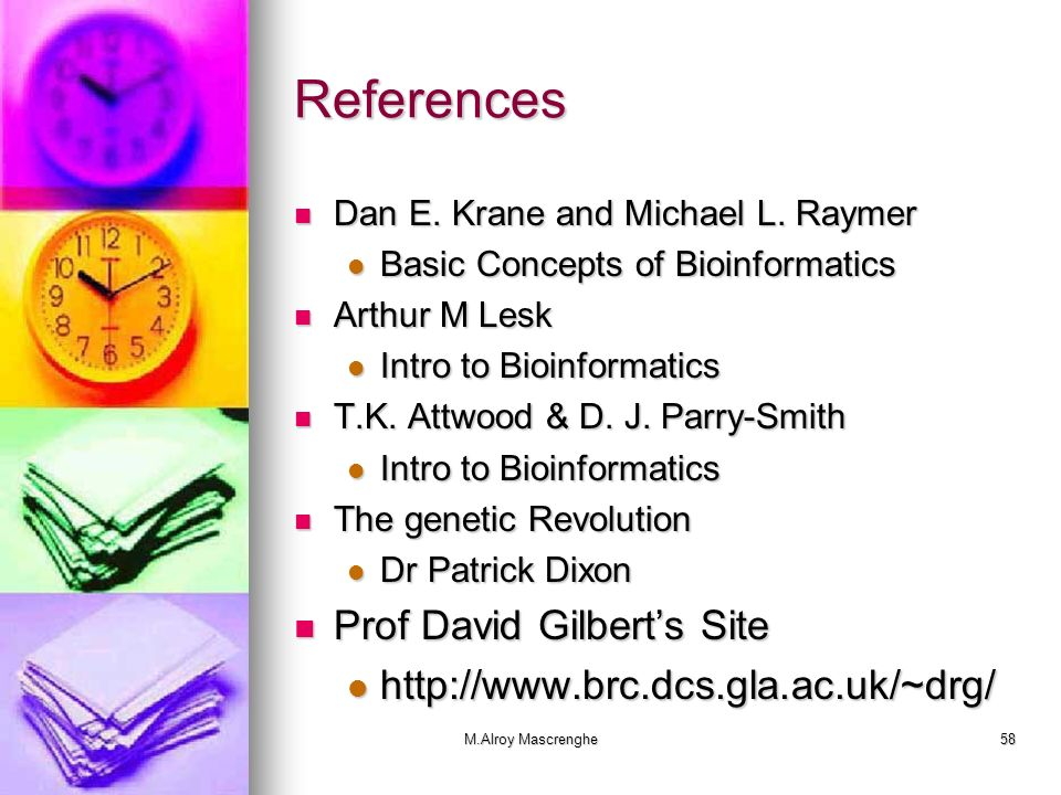 References Prof David Gilbert's Site