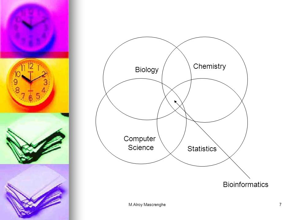 Chemistry Biology Computer Science Statistics Bioinformatics