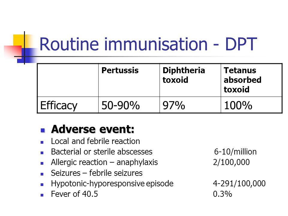 Routine immunisation - DPT
