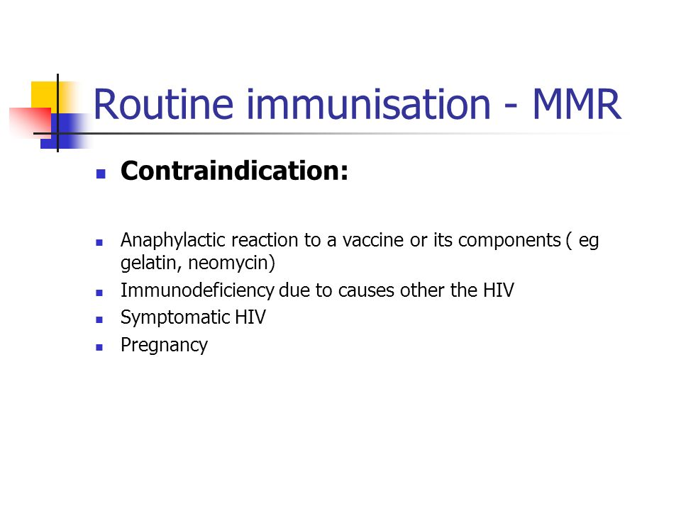 Routine immunisation - MMR