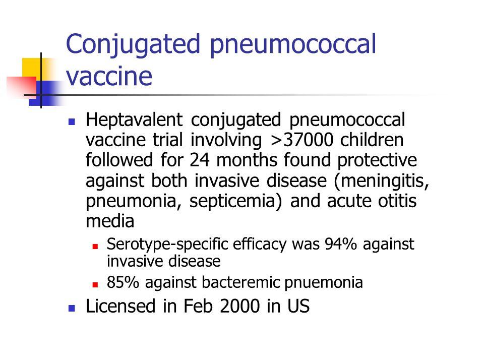 Conjugated pneumococcal vaccine