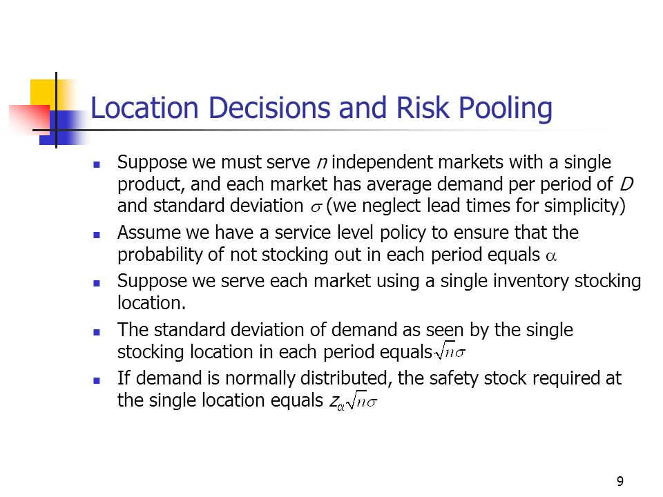 Location Decisions and Risk Pooling