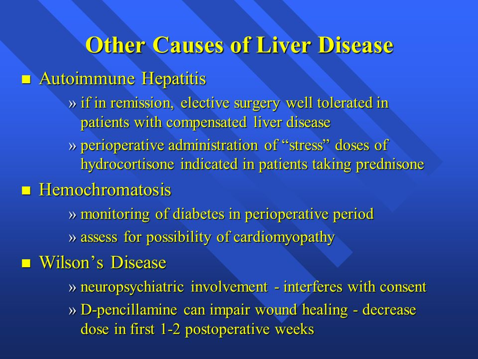 Other Causes of Liver Disease
