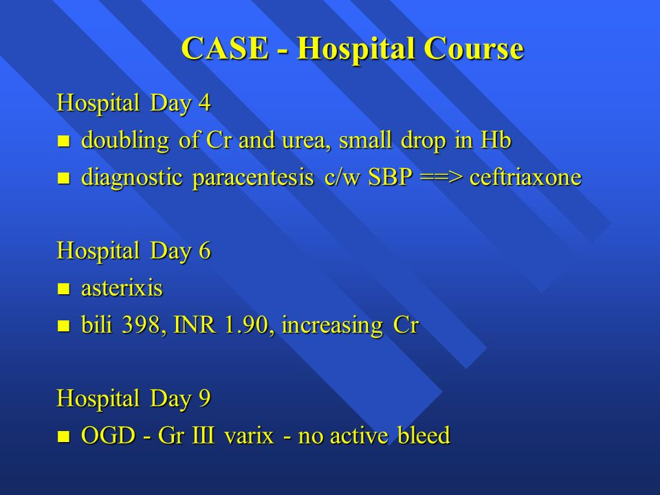 CASE - Hospital Course Hospital Day 4