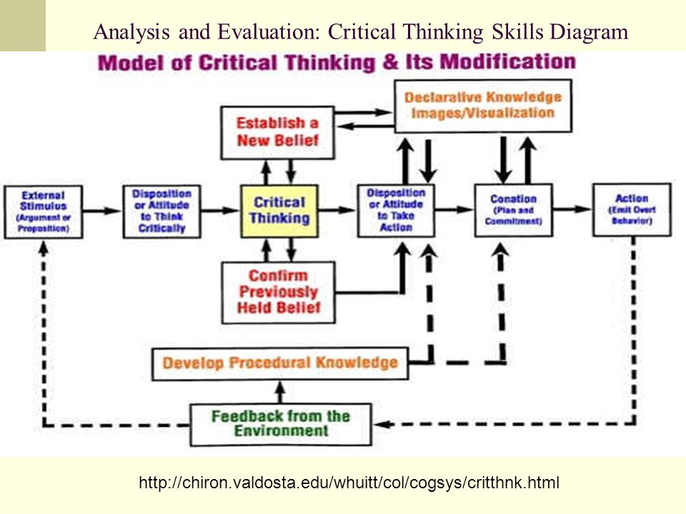 Analysis and Evaluation: Critical Thinking Skills Diagram