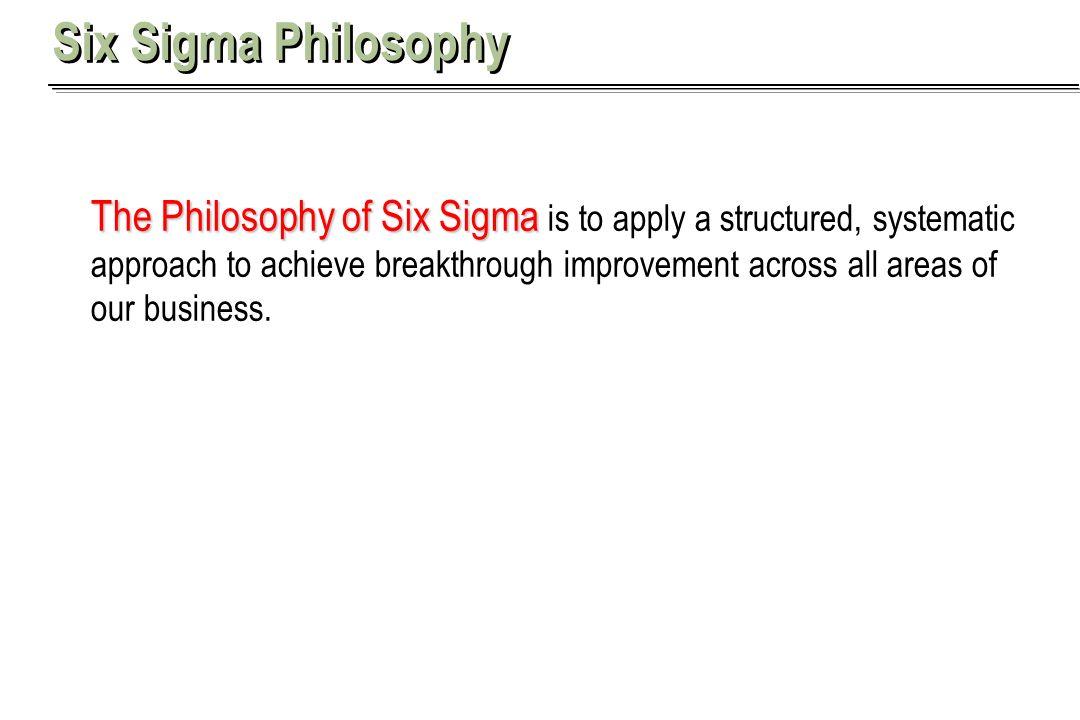 Six Sigma Philosophy