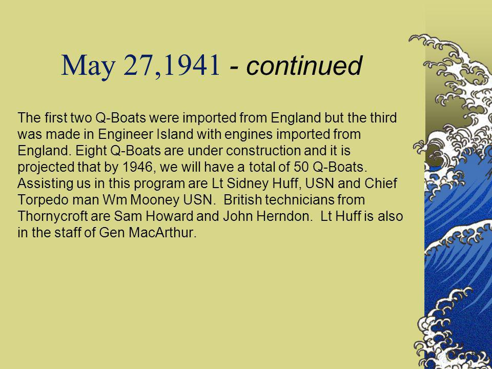 May 27,1941 - continued