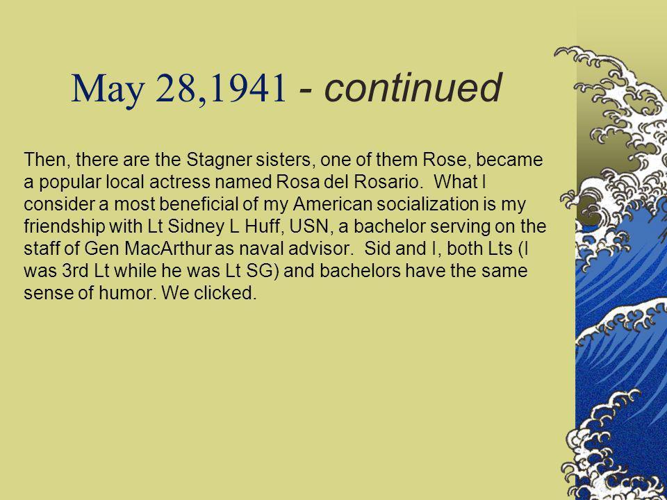 May 28,1941 - continued