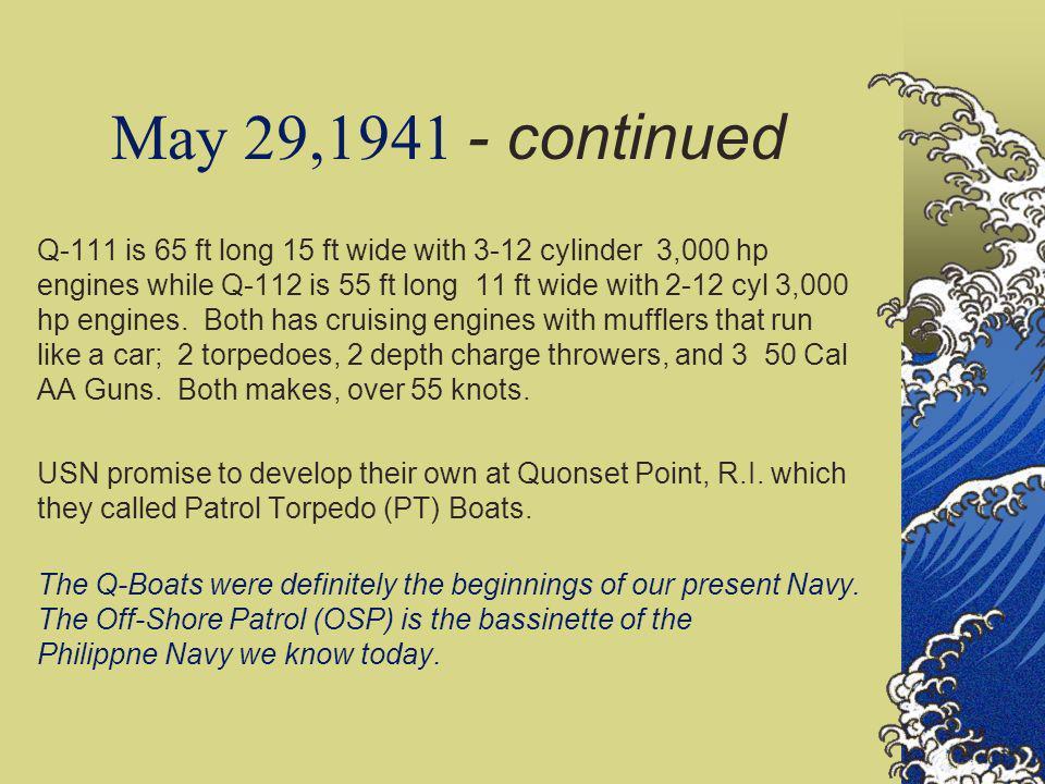 May 29,1941 - continued