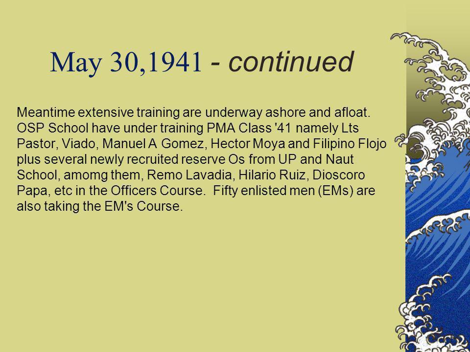 May 30,1941 - continued