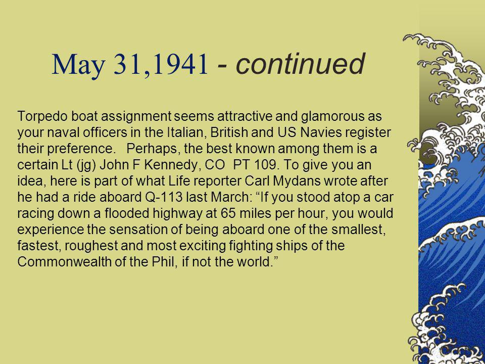 May 31,1941 - continued