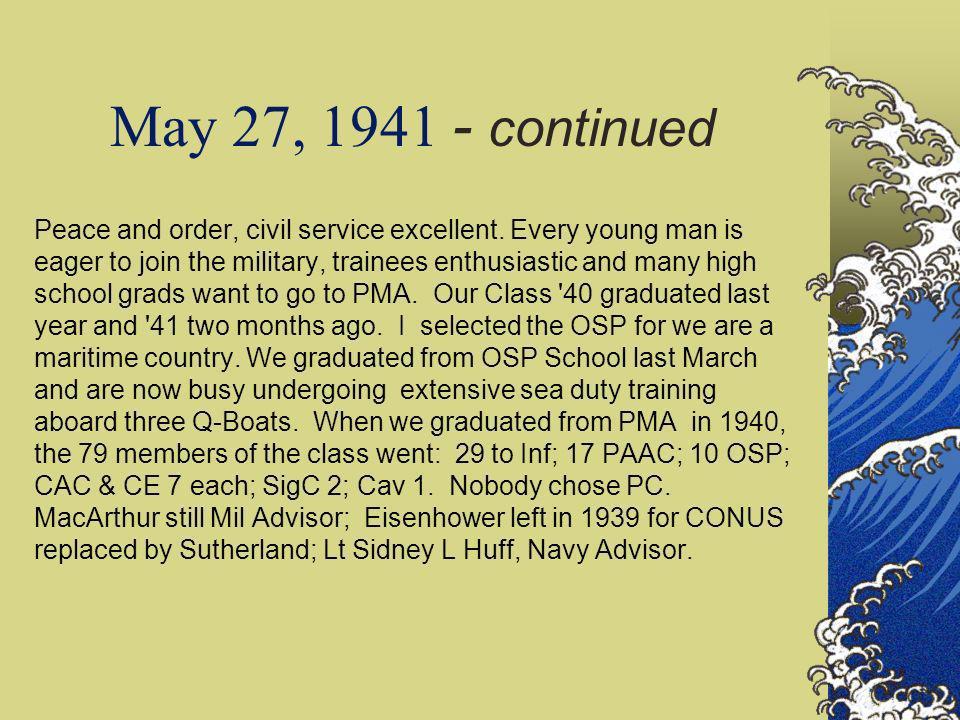 May 27, 1941 - continued