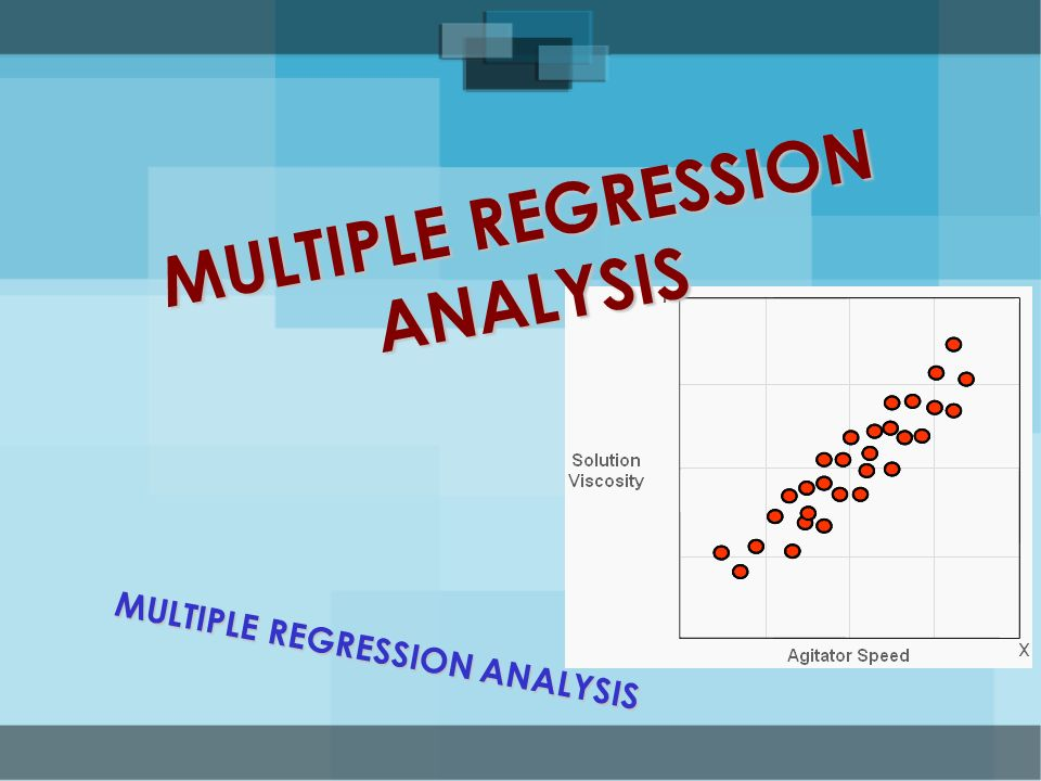 multiple regression analysis multiple regression analysis