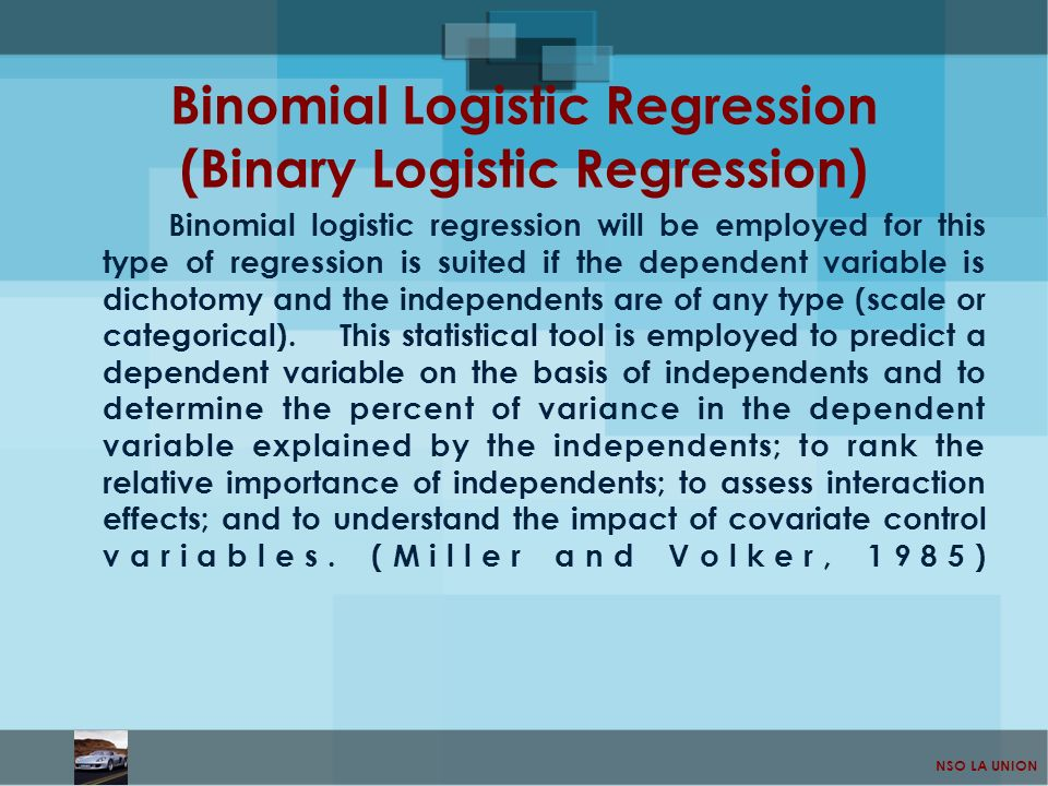 Binomial Logistic Regression (Binary Logistic Regression)