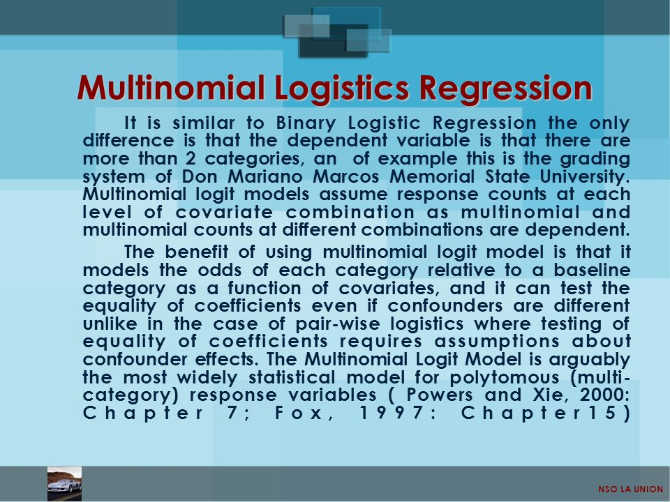 Multinomial Logistics Regression