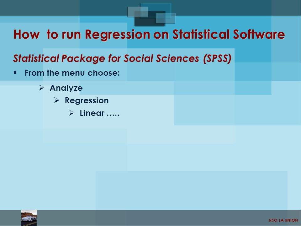 How to run Regression on Statistical Software