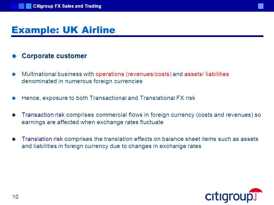 Example: UK Airline Corporate customer