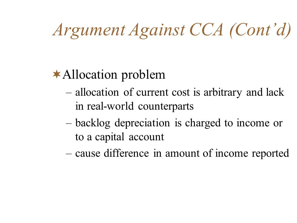 Argument Against CCA (Cont'd)