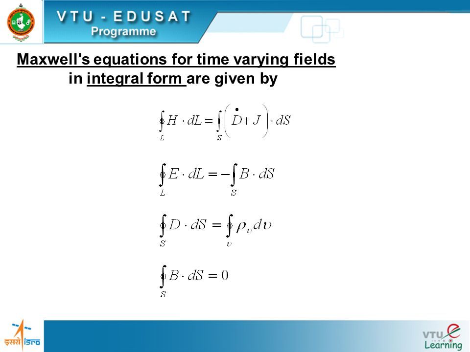 Maxwell s equations for time varying fields