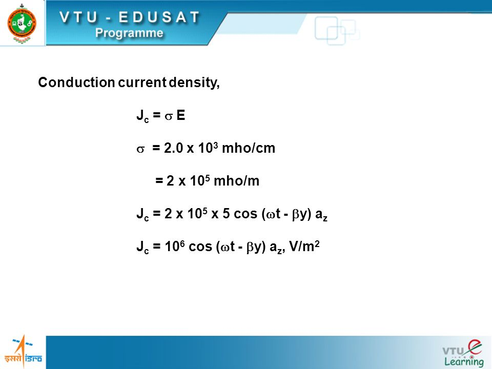 Conduction current density,