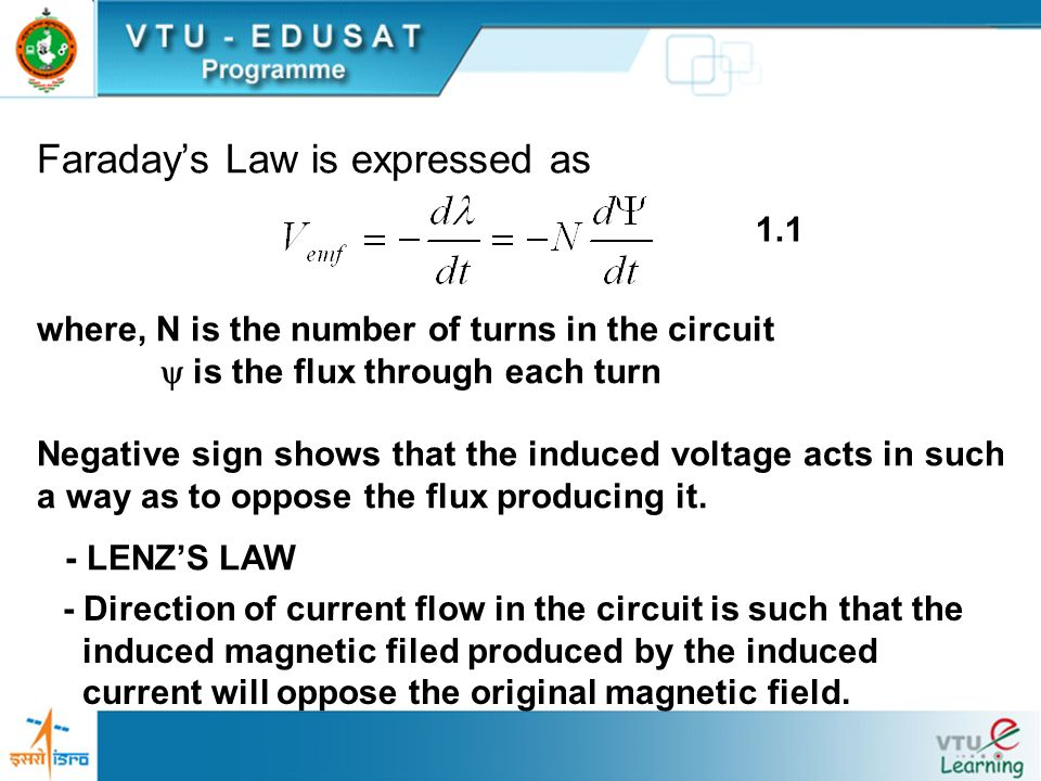Faraday's Law is expressed as