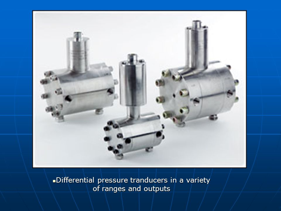 Differential pressure tranducers in a variety of ranges and outputs