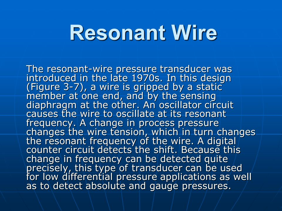 Resonant Wire