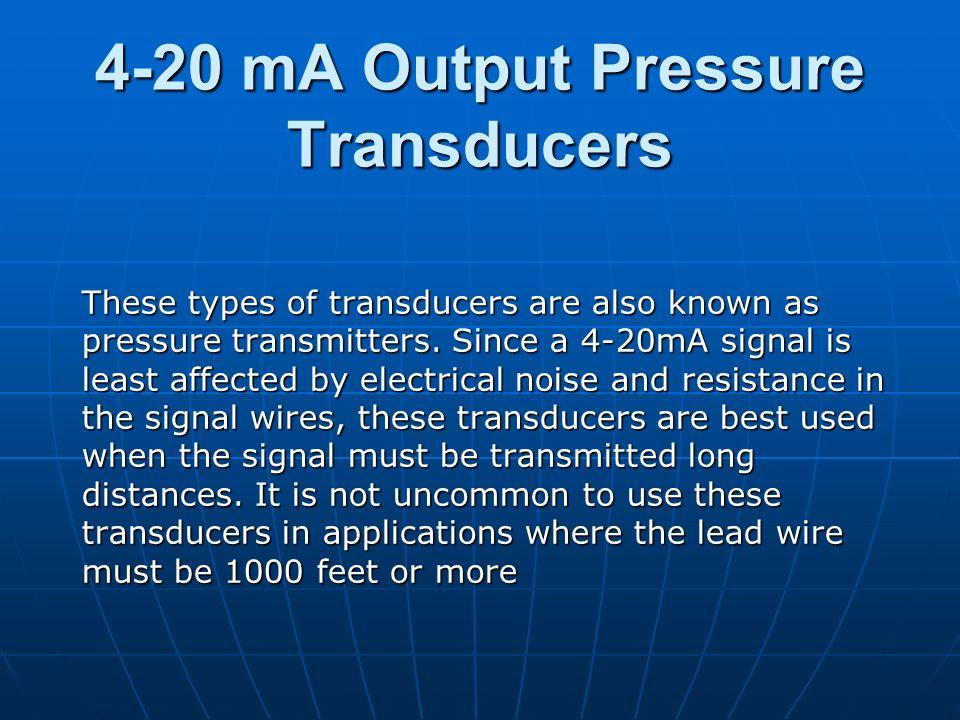 4-20 mA Output Pressure Transducers