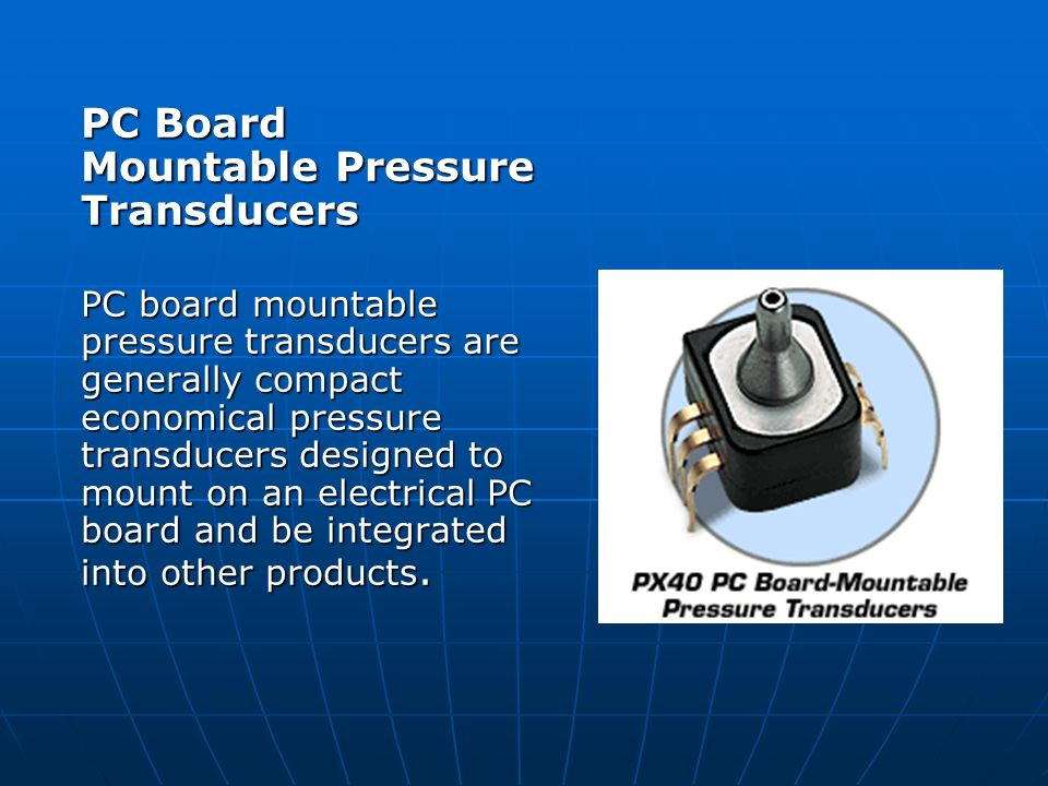 PC Board Mountable Pressure Transducers