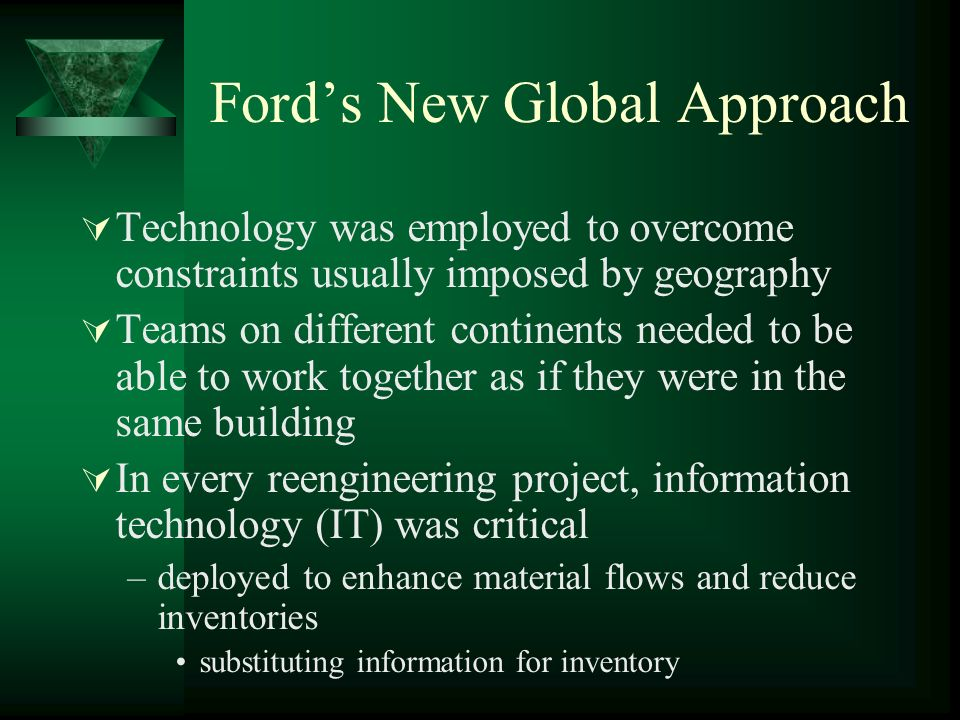 Ford's New Global Approach