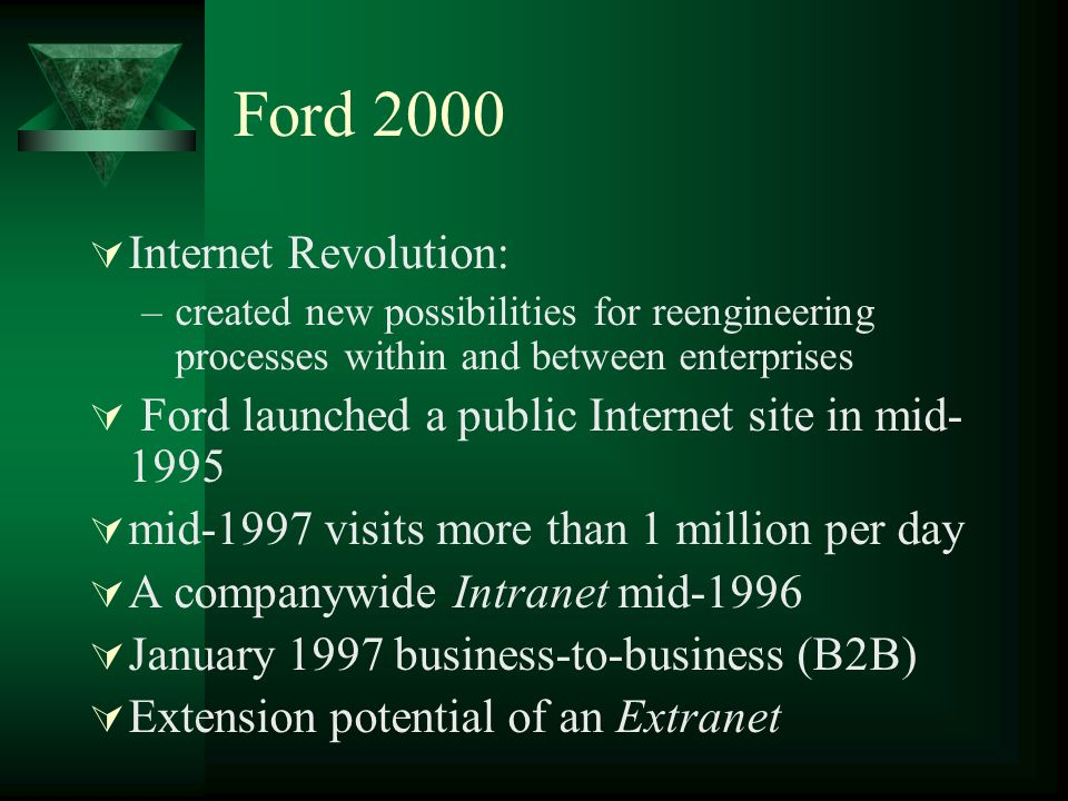 Ford 2000 Internet Revolution: