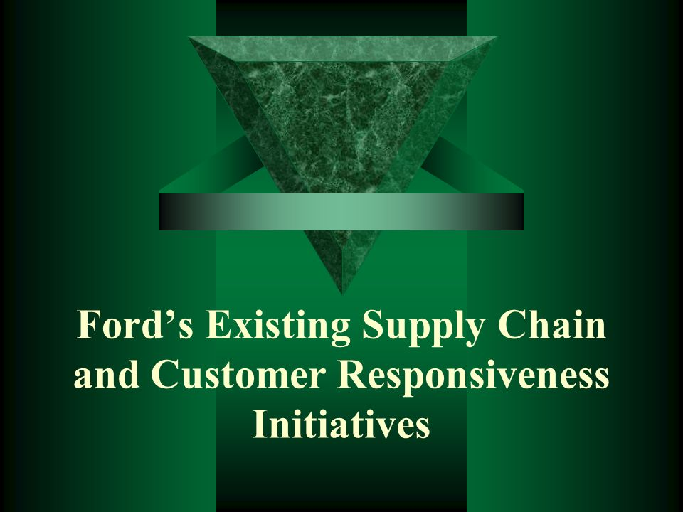 Ford's Existing Supply Chain and Customer Responsiveness Initiatives