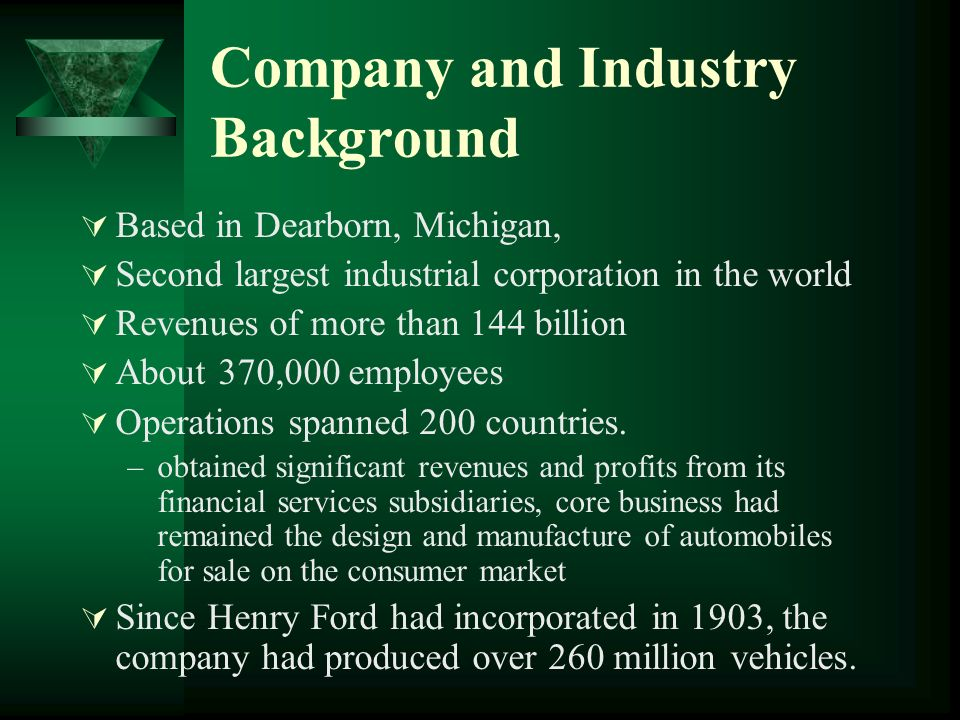 Company and Industry Background