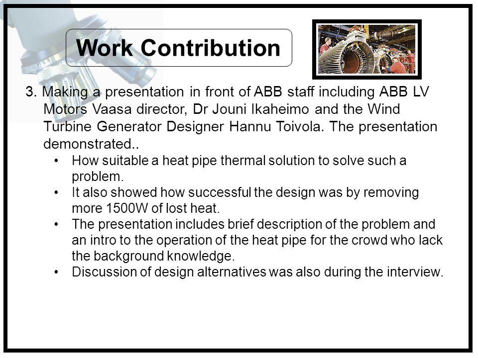 Work Contribution