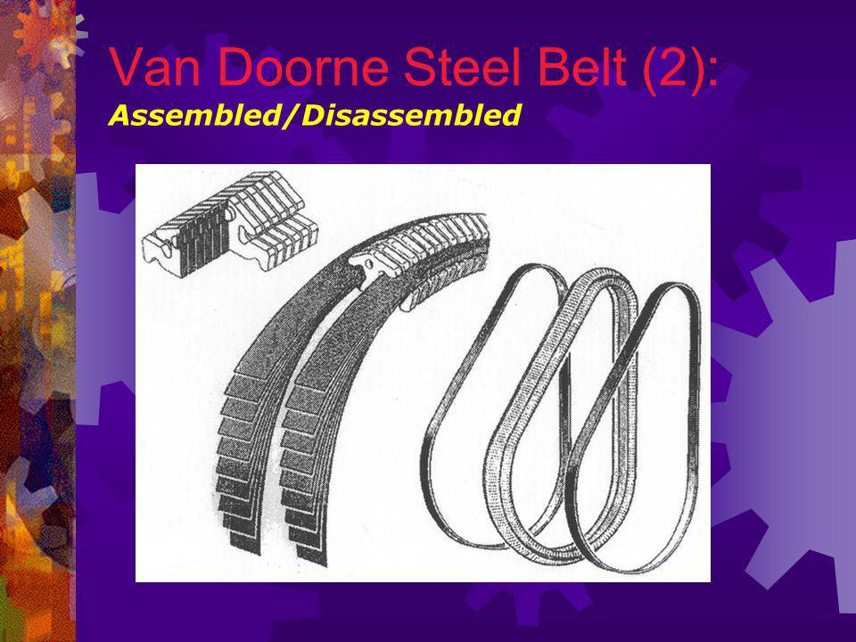 Van Doorne Steel Belt (2): Assembled/Disassembled