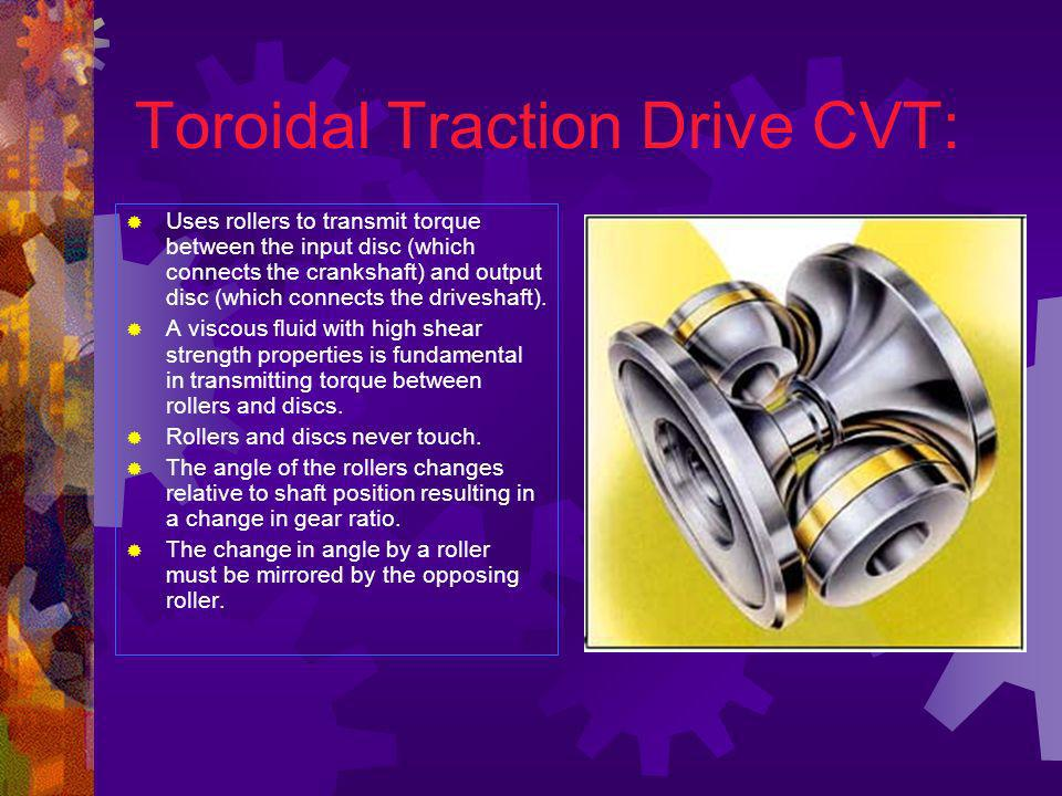 Toroidal Traction Drive CVT: