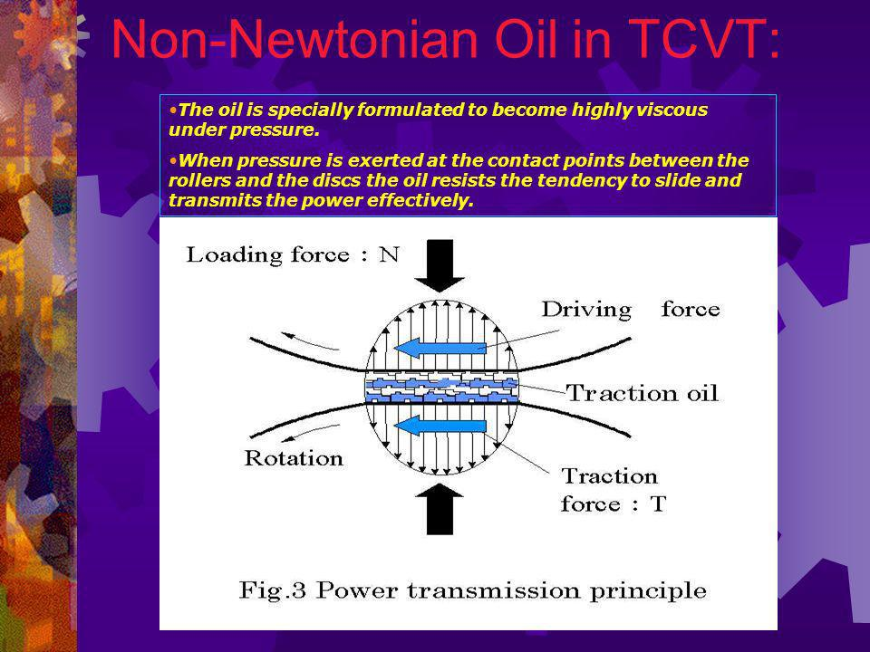 Non-Newtonian Oil in TCVT: