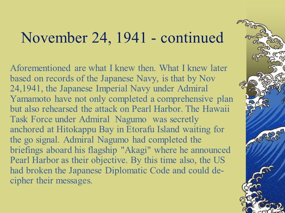 November 24, 1941 - continued