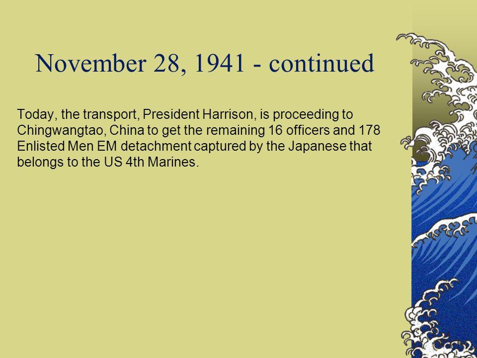 November 28, 1941 - continued
