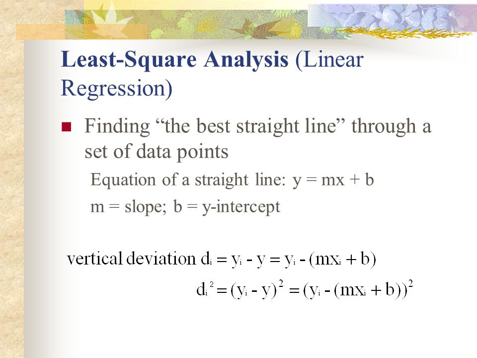 Least-Square Analysis (Linear Regression)