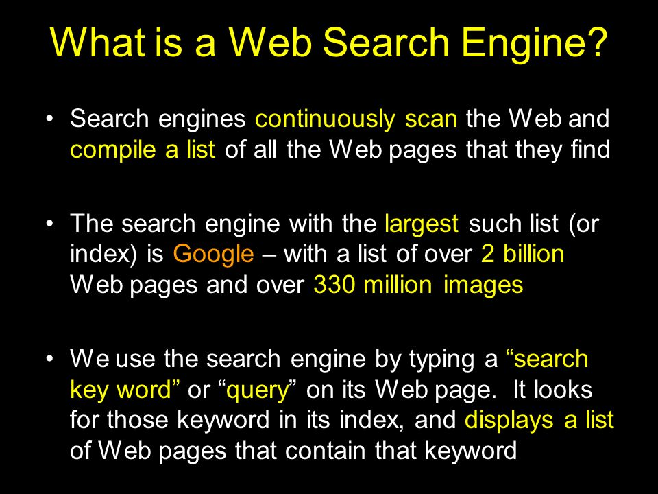What is a Web Search Engine