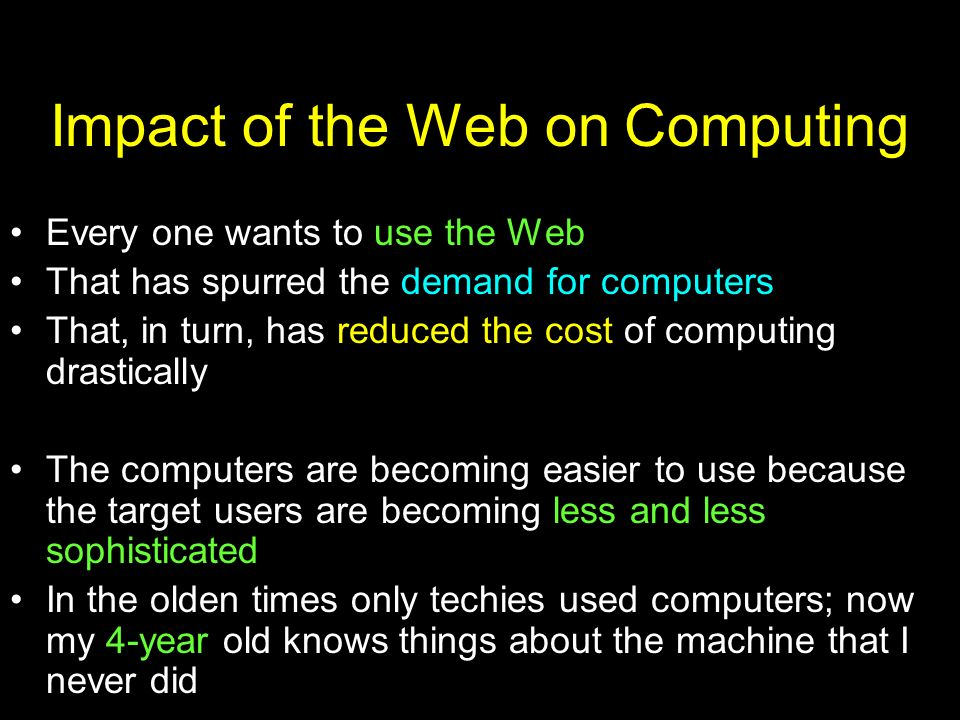 Impact of the Web on Computing