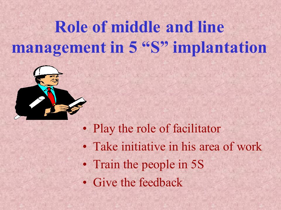 Role of middle and line management in 5 S implantation