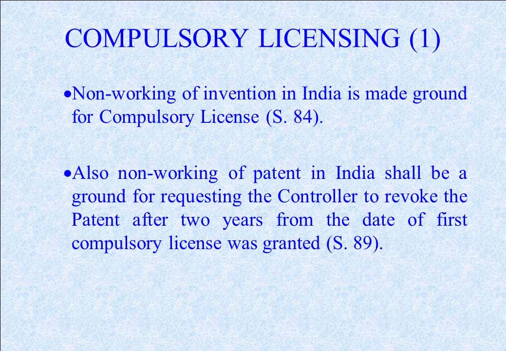 patent in india