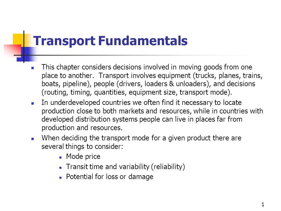 Transport Fundamentals