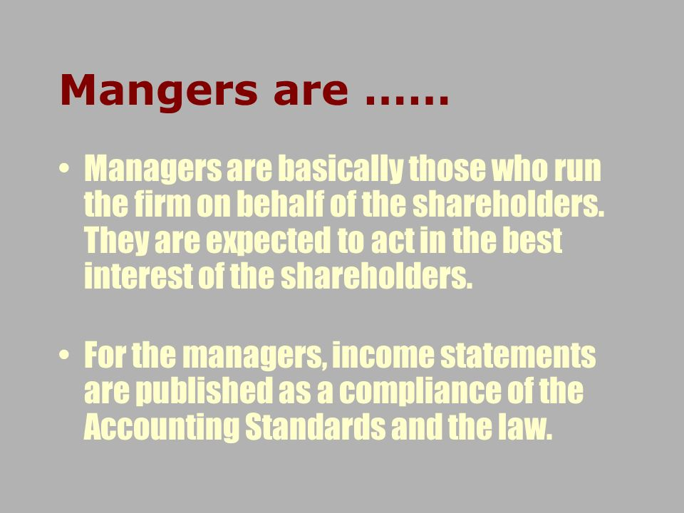 Mangers are ……